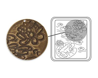 Vintaj DecoEtch Die Lily Pads 2 3/8