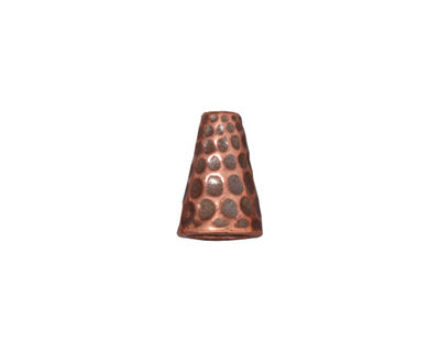 TierraCast Antique Copper (plated) Tall Hammertone Cone 13x9mm