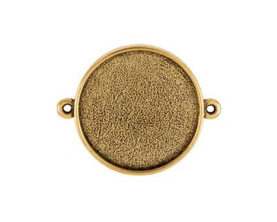 Nunn Design Antique Gold (plated) Grande Circle Bezel Link 42x34mm
