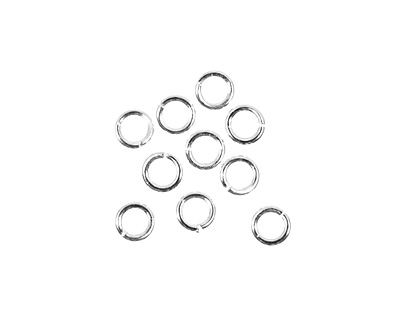 Silver (plated) Round Jump Ring 4mm, 18 gauge