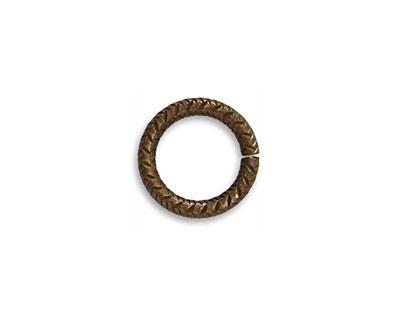 Vintaj Natural Brass Heavy Cross Hatch Jump Ring 14mm