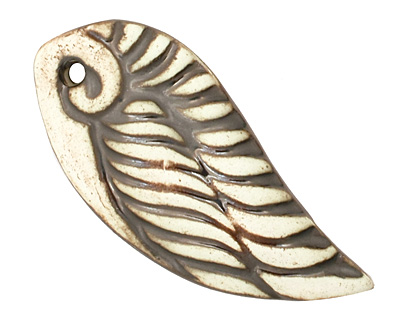 Earthenwood Studio Ceramic Winged Pendant 24x53-54mm