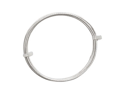 German Style Wire Silver (plated) Spiral Pattern Round 18 gauge, 1.5 meters