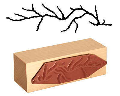 Tree Branch Rubber Stamp 68x18mm