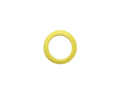 African Recycled Glass Vintage Yellow Dogun Mini Ring 10-14mm