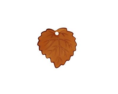 Matte Smoky Topaz Lucite Ivy Leaf 16mm