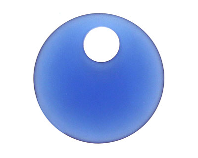Royal Blue Recycled Glass Off Center Donut 30mm