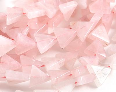 Rose Quartz Triangle 11-12x13mm