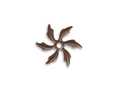 Vintaj Natural Brass Pinwheel Petals Fastenable 18mm