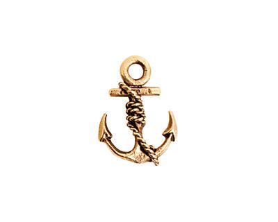 Nunn Design Antique Gold (plated) Anchor Charm 13x18mm