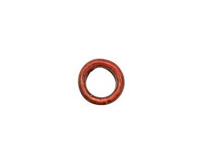 C-Koop Enameled Metal Ruby Red Ring 10-11mm