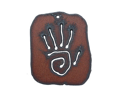 The Lipstick Ranch Rusted Iron Spiral Hand Tag 52x44mm