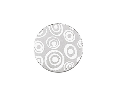 Lillypilly Silver Groovy Circles Anodized Aluminum Disc 19mm, 22 gauge