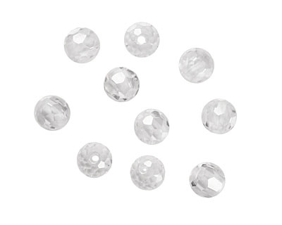 Crystal Clear Faceted Round 4mm