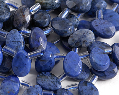 Dumortierite Faceted Flat Teardrop 8-9x12.5mm