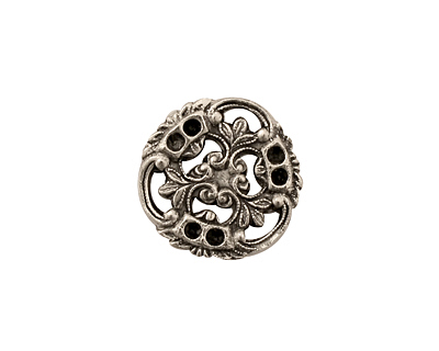 Stampt Antique Pewter (plated) Pinwheel Connector 17x18mm