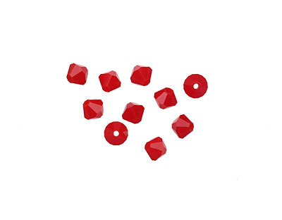 Swarovski Dark Red Coral Faceted Bicone 4mm (5301)