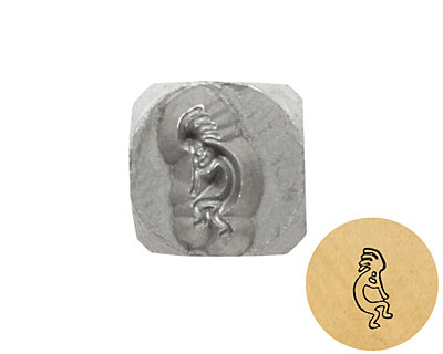 Kokopelli Metal Stamp 5mm