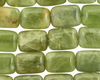 Light Green Garnet Thin Pillow 14x10mm