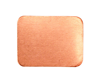 Copper Rectangle Blank 26x20mm