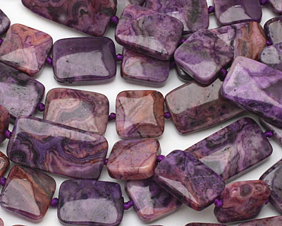 Purple Crazy Lace Agate Thin Pillow & Square Mix 15x15-30mm