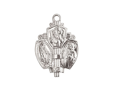 Nunn Design Sterling Silver (plated) Sower Medallion 17x26mm