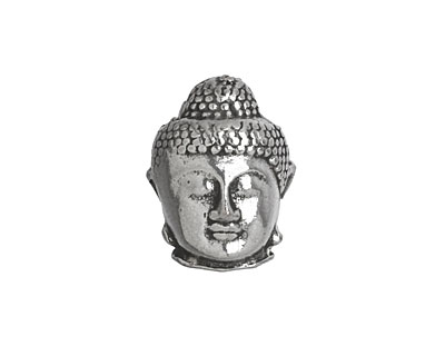 Antique Silver (plated) Buddha Magnetic Clasp 20x16mm