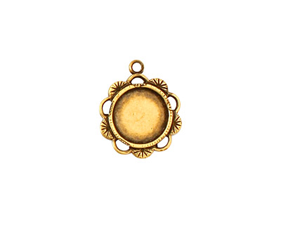 Stampt Antique Brass Spring Blossom Round Setting 9mm