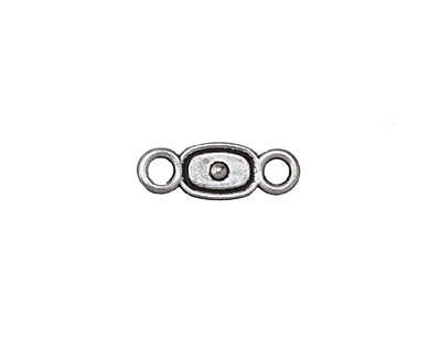 Antique Silver (plated) Bullseye Oval Link 24x8.5mm