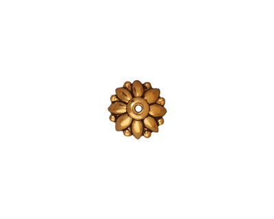 TierraCast Antique Gold (plated) Dharma Bead Cap 4x10mm