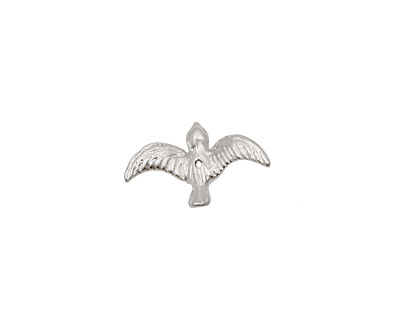 Ezel Findings Rhodium (plated) Flying Bird 4x10mm