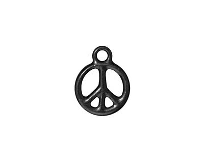 TierraCast Gunmetal Small Peace Charm 12x16mm
