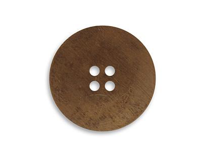 Vintaj Natural Brass Button Altered Blank 24mm