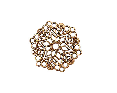 Stampt Antique Copper (plated) Poinsettia Filigree 22mm