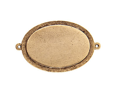 Nunn Design Antique Gold (plated) Raised Tag Grande Oval Link 51x32mm