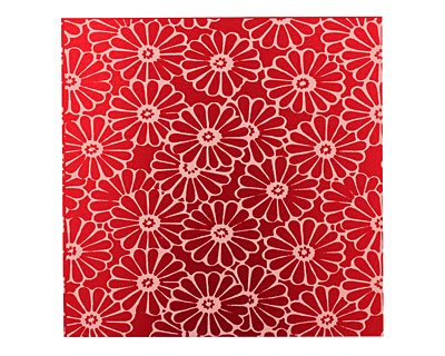 Lillypilly Red Daisy Anodized Aluminum Sheet 3