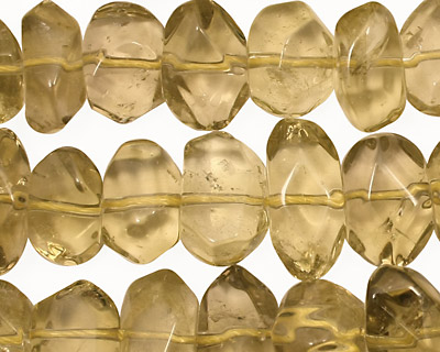 Smoky Quartz (yellow) Faceted Nugget 8-10x13-15mm