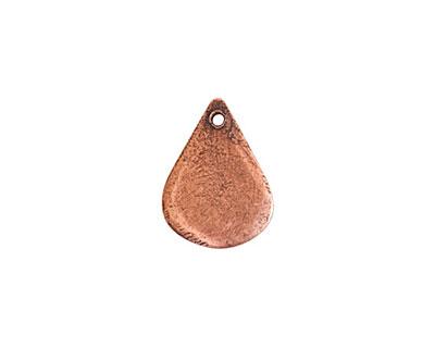 Nunn Design Antique Copper (plated) Mini Flat Tag Drop 12x16mm