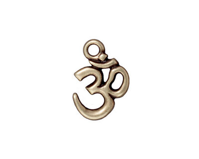 TierraCast Antique Brass (plated) Om Charm 13x18mm