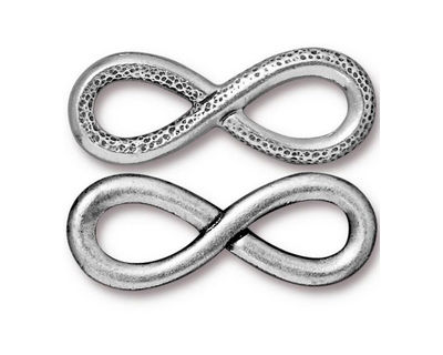 TierraCast Antique Silver (plated) Infinity Link 32x12mm