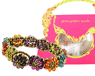 Glass Garden Multi Blooming Crystals Bracelet Kit