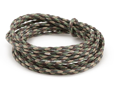 Camouflage Braided Cotton Bolo Cord 2mm