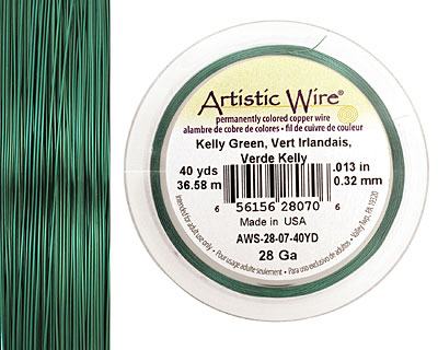 Artistic Wire Kelly Green 28 gauge, 40 yards