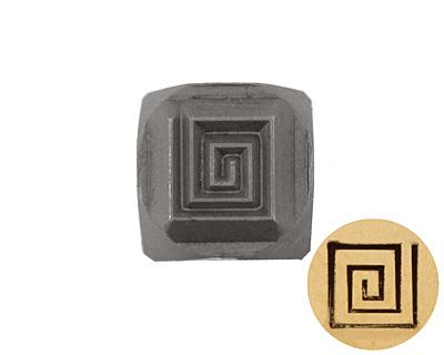 Square Spiral Metal Stamp 5mm
