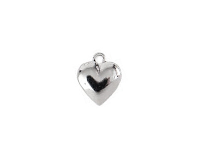 Nunn Design Sterling Silver (plated) Large Heart Charm 12x15mm