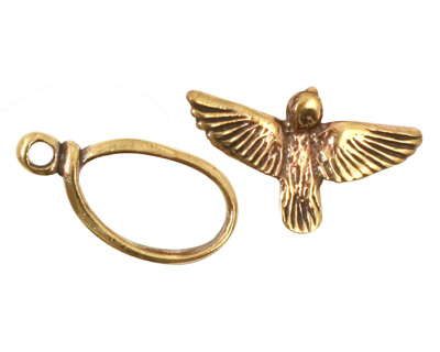 Green Girl Bronze Bird Toggle 13mm, 25mm bar