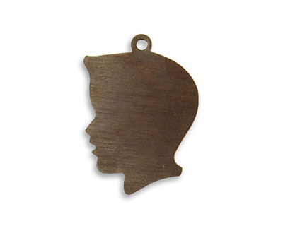 Vintaj Natural Brass Boy Silhouette 17x25mm