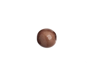 Tagua Nut Dark Brown Round 9mm
