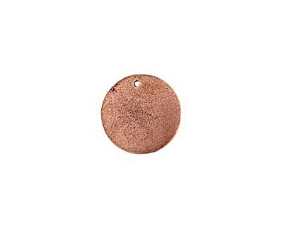 Nunn Design Antique Copper (plated) Flat Small Circle Tag 20mm