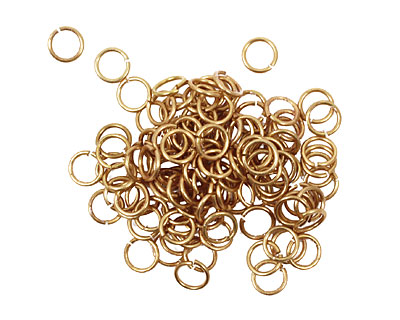 Artistic Wire Non-Tarnish Brass Chain Maille Jump Ring 4.37mm, 20 gauge